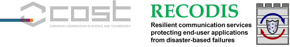 Resilient Communication Services Protecting End-user Applications from Disaster-based Failures